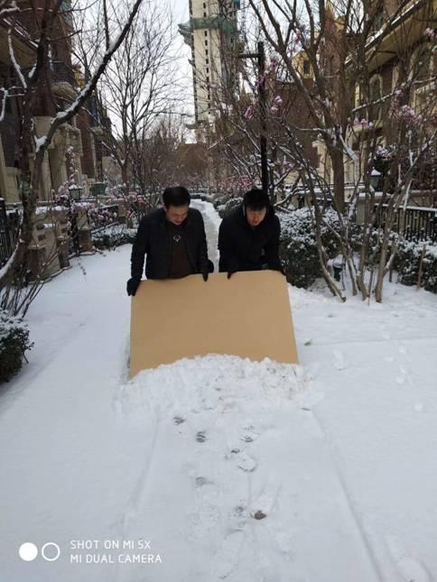 唐城物业扫雪进行时